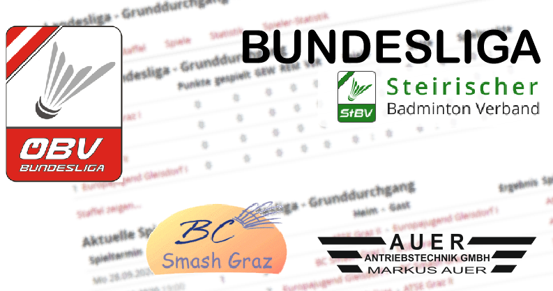 Union VRC Badminton 1 versus BC Smash Graz Auer Tore